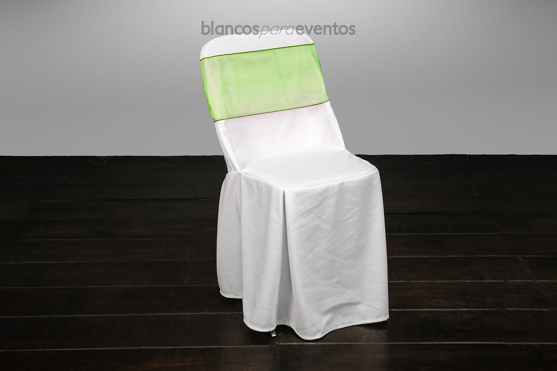 BLANCOS PARA EVENTOS - CUBRESILLA ORGANZA