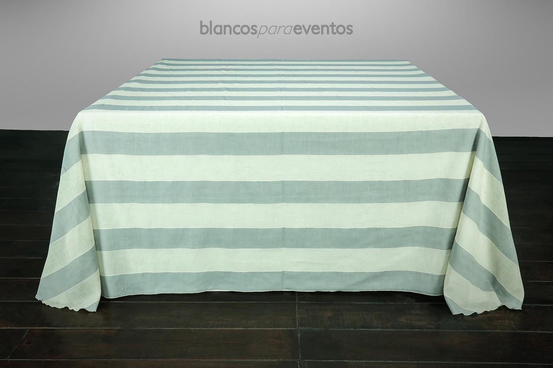 BLANCOS PARA EVENTOS - MANTEL LINO FRANJA