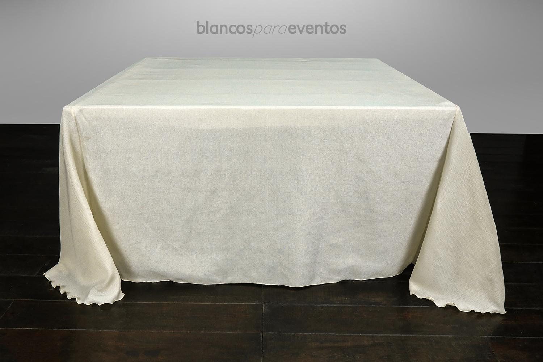 BLANCOS PARA EVENTOS - MANTEL LINO VINTAGE