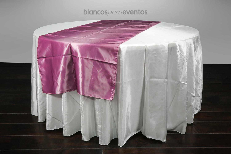 BLANCOS PARA EVENTOS - CAMINO DE MESA TAFETA